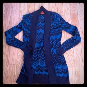 Missoni for target blue chevron no closure…